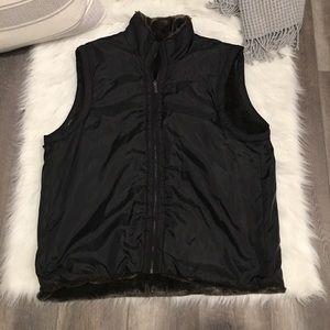 Marc New York Andrew Marc Black Faux Fur Vest